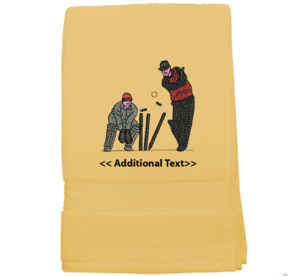 Personalised Cricket Players Sports Terry Cotton Towel