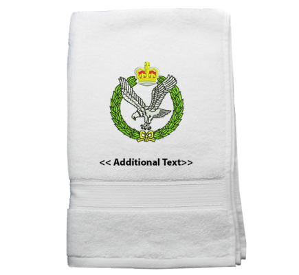 Personalised Army Air Corps Military Terry Cotton Towel