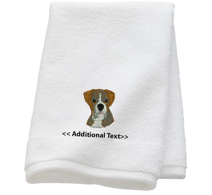 Personalised Boxer Dog  Custom Embroidered Terry Cotton Towel