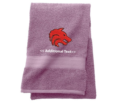 Personalised Dogs Head Custom Embroidered  Terry Cotton Towel