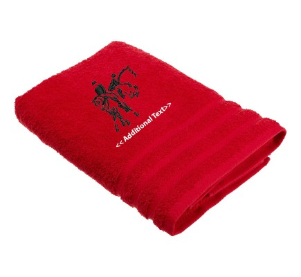 Personalised Equestrian Custom Embroidered  Terry Cotton Towel