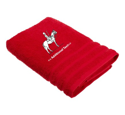 Personalised Horse Outline Custom Embroidered  Terry Cotton Towel