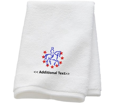 Personalised Horse Riding Custom Embroidered  Terry Cotton Towel