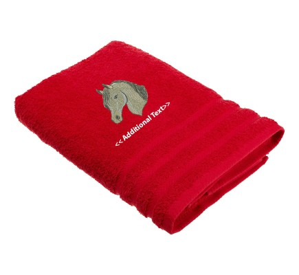 Personalised Horses Head Custom Embroidered  Terry Cotton Towel