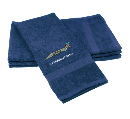 Personalised Fighter Jet Military Terry Cotton Towel