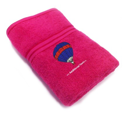 Personalised Hot Air Ballon Custom Embroidered Terry Cotton Towel