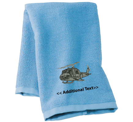 Personalised Helicopter Military Towels Terry Cotton Towel