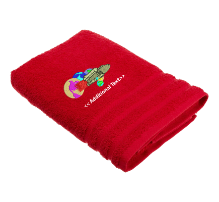 Personalised Space Shuttle Custom Embroidered Terry Cotton Towel
