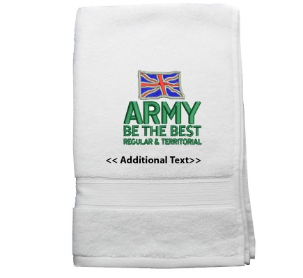 Personalised Army Training Corp Towels