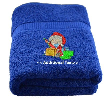 Personalised Christmas Baby Seasonal Towels Terry Cotton Towel