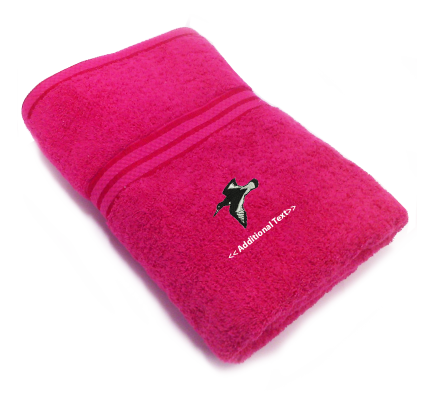 Personalised Bird Flying Custom Embroidered Terry Cotton Towel