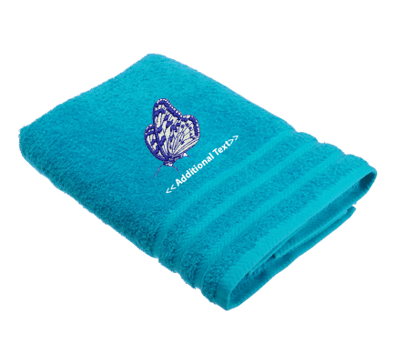 Personalised Butterfly Custom Embroidered Terry Cotton Towel