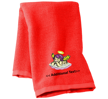 Personalised Angel Cherub Religious Towels Terry Cotton Towel