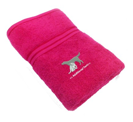 Personalised Cat & Dog Custom Embroidered Terry Cotton Towel