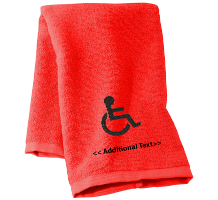 Personalised Disabled Badge Personalised Towels Terry Cotton Towel