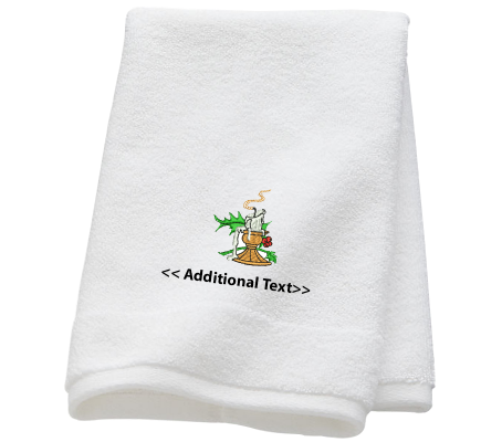 Personalised Candle Seasonal Towels Terry Cotton Towel