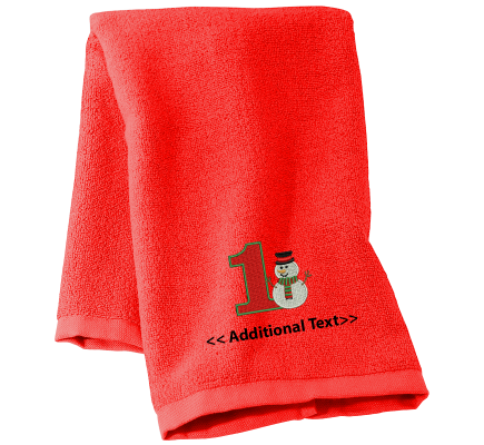 Personalised 1st Christmas Seasonal Towels Terry Cotton Towel