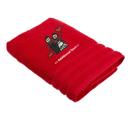 Personalised Wedding Couple Custom Embroidered Terry Cotton Towel