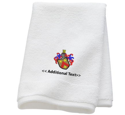 Personalised Badge  Military Towels  Terry Cotton Towel