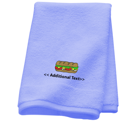 Personalised Baguette Gift Towels Terry Cotton Towel