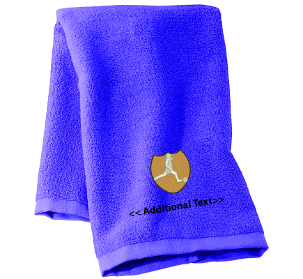Personalised Football Crest Sports Towels Terry Cotton Towel
