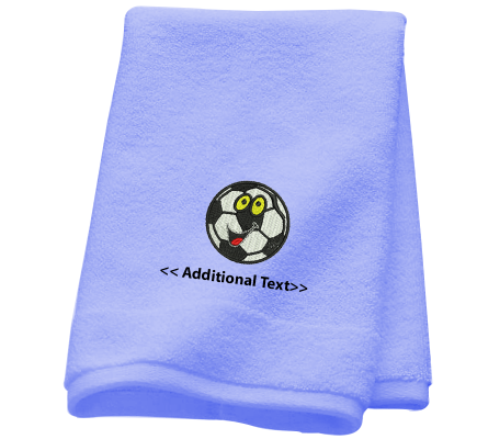 Personalised Cartoon Football  Sports Towels Terry Cotton Towel