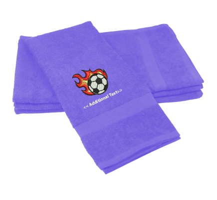 Personalised Flaming Football Sports Towels Terry Cotton Towel