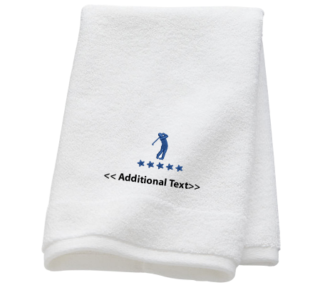 Personalised Five Star Golfer Sports Towels Terry Cotton Towel