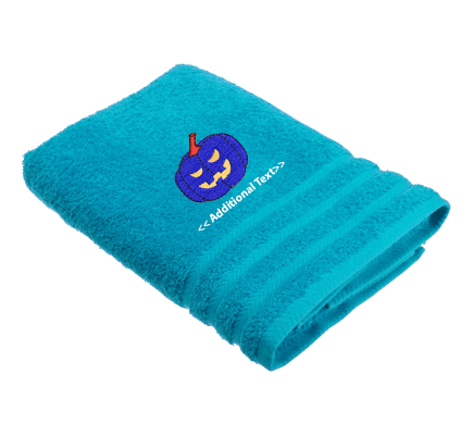 Personalised Halloween Pumpkin Seasonal Towels Terry Cotton Towel