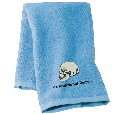 Personalised Skull Seasonal Towels Terry Cotton Towel