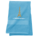 Personalised Eiffel Tower Custom Embroidered Terry Cotton Towel