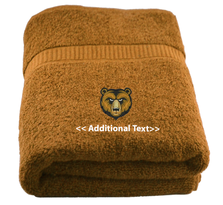 Personalised Bear Cubs Sports Towels Terry Cotton Towel