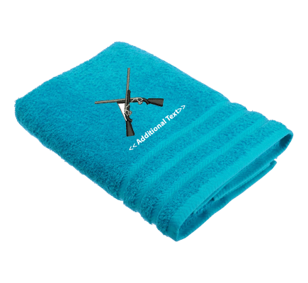 Personalised Crossed Rifles Military Towels  Terry Cotton Towel