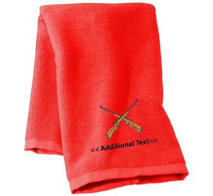 Personalised Rifles Military Towels Terry Cotton Towel