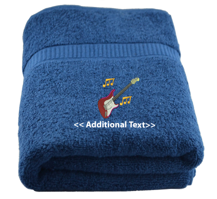 Personalised Guitar Hobby Towels Terry Cotton Towel