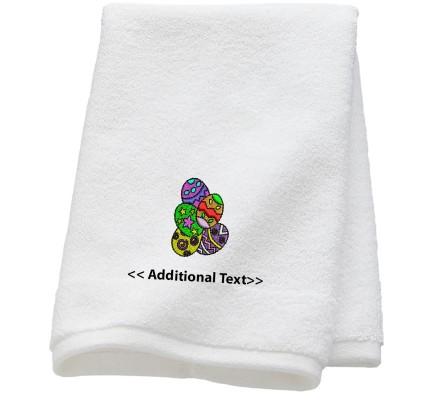 Personalised Easter Eggs Seasonal Towels Terry Cotton Towel