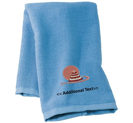 Personalised Wedding Cake Custom Embroidered Terry Cotton Towel