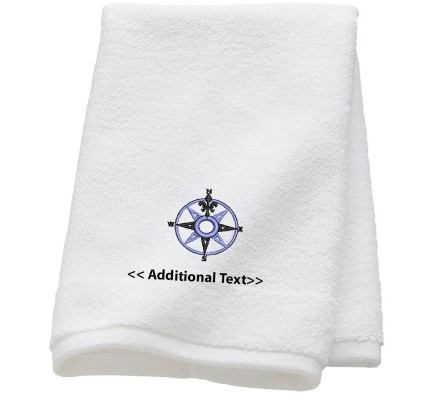 Personalised Compas Custom Embroidered Terry Cotton Towel