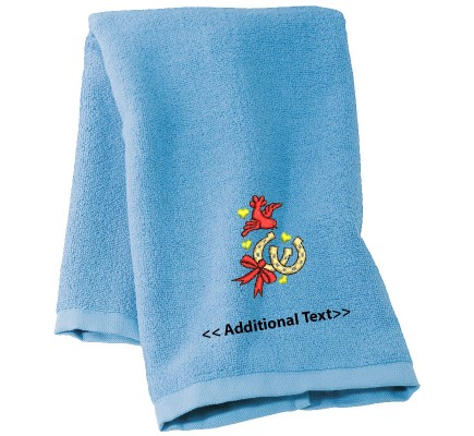 Personalised Wedding Luck Custom Embroidered Terry Cotton Towel