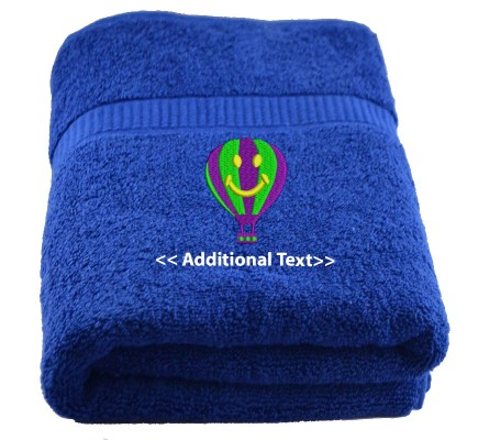 Personalised Airballoon  Custom Embroidered Terry Cotton Towel