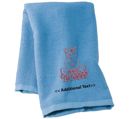 Personalised Children In Need Personalised Towels Terry Cotton Towel