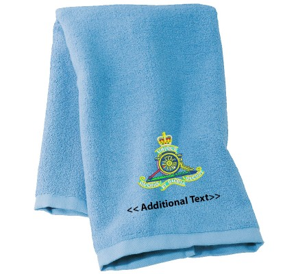Personalised Royal Artillery Military Towels Terry Cotton Towel
