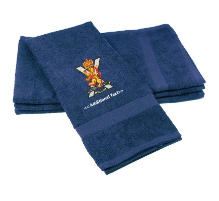 Personalised Royal Regiment of Scotland Military Towels Terry Cotton Towel