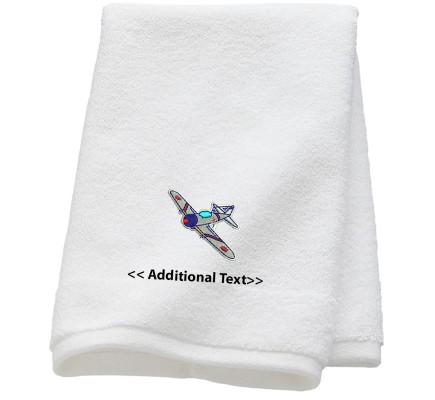 Personalised Spitfire Military Towels Terry Cotton Towel