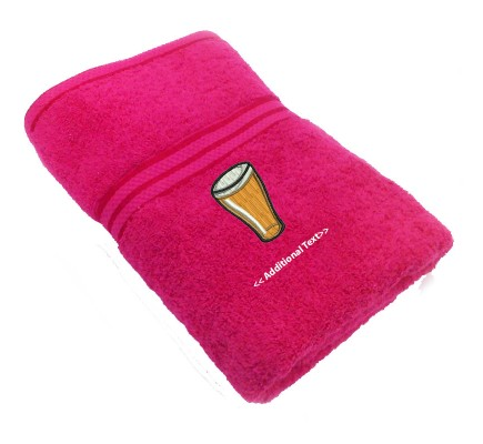Personalised Beer Gift Towels Terry Cotton Towel