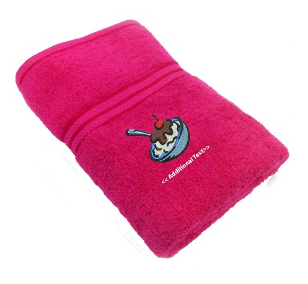 Personalised Ice Cream Gift Towels Terry Cotton Towel