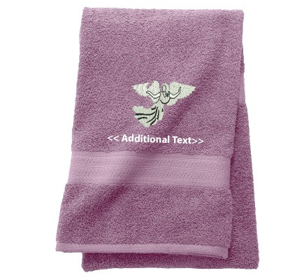 Personalised Angel Religious Towels Terry Cotton Towel