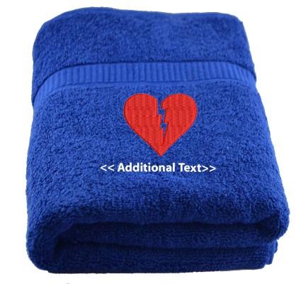 Personalised Broken Heart Seasonal Towels Terry Cotton Towel