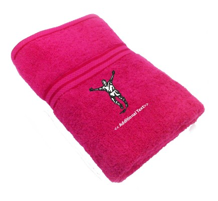Personalised Celebrating Footballer Sports Towels Terry Cotton Towel