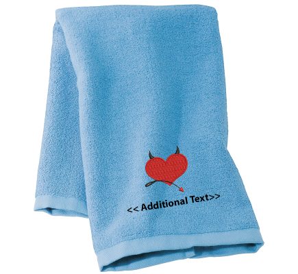 Personalised Devil Heart Seasonal Towels Terry Cotton Towel